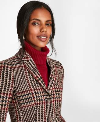 Brooks Brothers Petite Plaid Wool-Alpaca-Blend Jacket