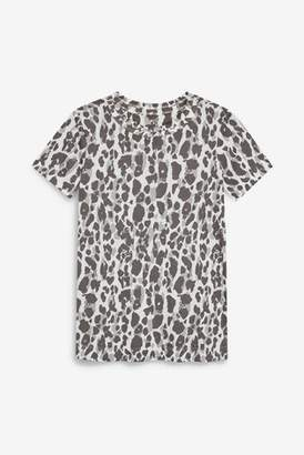 Next Womens Grey Animal Weekend T-Shirt