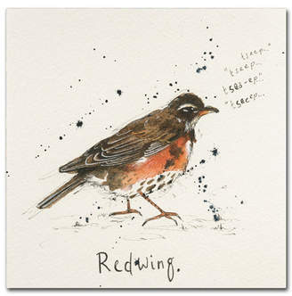 """Red Wing Shoes Michelle Campbell 'Redwing' Canvas Art - 35"""" x 35"""" x 2"""""""