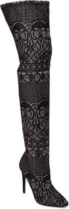 Steve Madden Black Tiffy Lace Over-the-Knee Boots