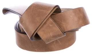 Brunello Cucinelli Monili-Trimmed Leather Belt