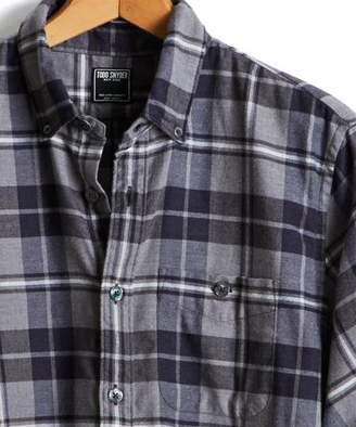 Todd Snyder Button Down Flannel Shirt in Grey Plaid