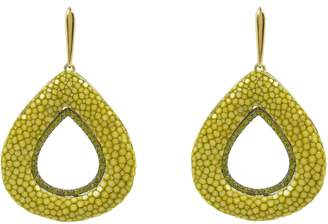 Latelita London - Stingray Hollow Tear Earring Kiwi