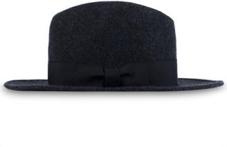 Maiden Noir Wide Brim Wool Felt Fedora Hat $240 thestylecure.com