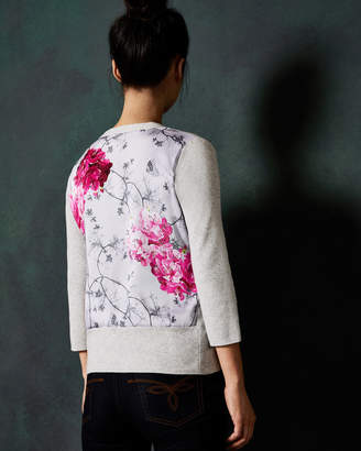 Ted Baker OWELA Babylon printed back cardigan