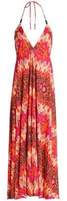 Heidi Klein Printed Stretch-Jersey Halterneck Maxi Dress