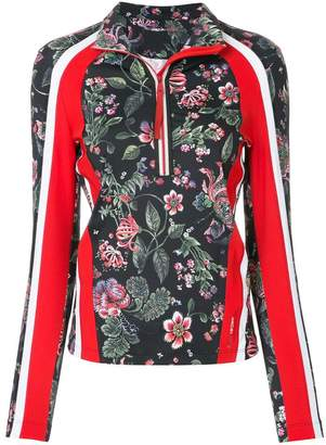 Marc Cain floral zip collar blouse