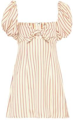 ATTICO The Striped off-the-shoulder minidress