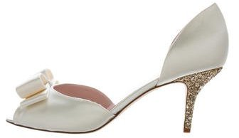 Kate Spade New York Satin Peep-Toe Pumps w/ Tags
