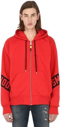 Diesel Printed Zip-Up Cotton Sweatshirt Hoodie