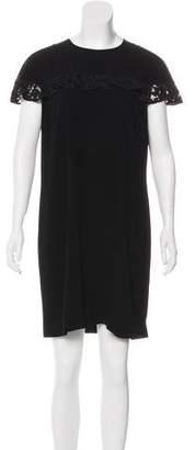 Burberry Ruffle-Trimmed Mini Dress