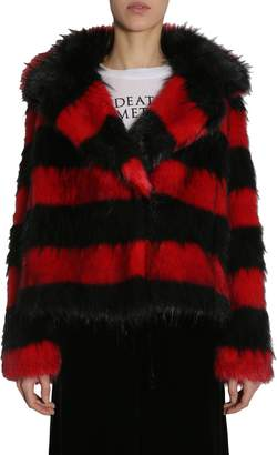 McQ Striped Faux-fur Jacket