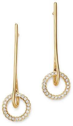 Bloomingdale's Diamond Diamond Circle & Bar Drop Earrings in 14K Yellow Gold, 0.40 ct. t.w. - 100% Exclusive