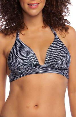 La Blanca Ripple Halter Bikini Top