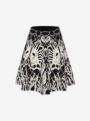 Alexander McQueen Spine Shell Jacquard Mini Skirt