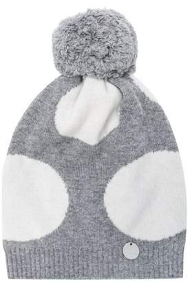 Simonetta polka dot knitted hat