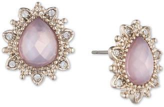 Marchesa Gold-Tone Stone & Crystal Stud Earrings