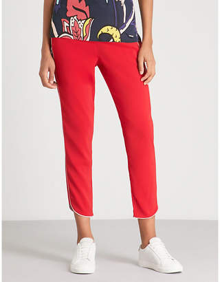 Ted Baker Laille side-striped mid-rise trousers