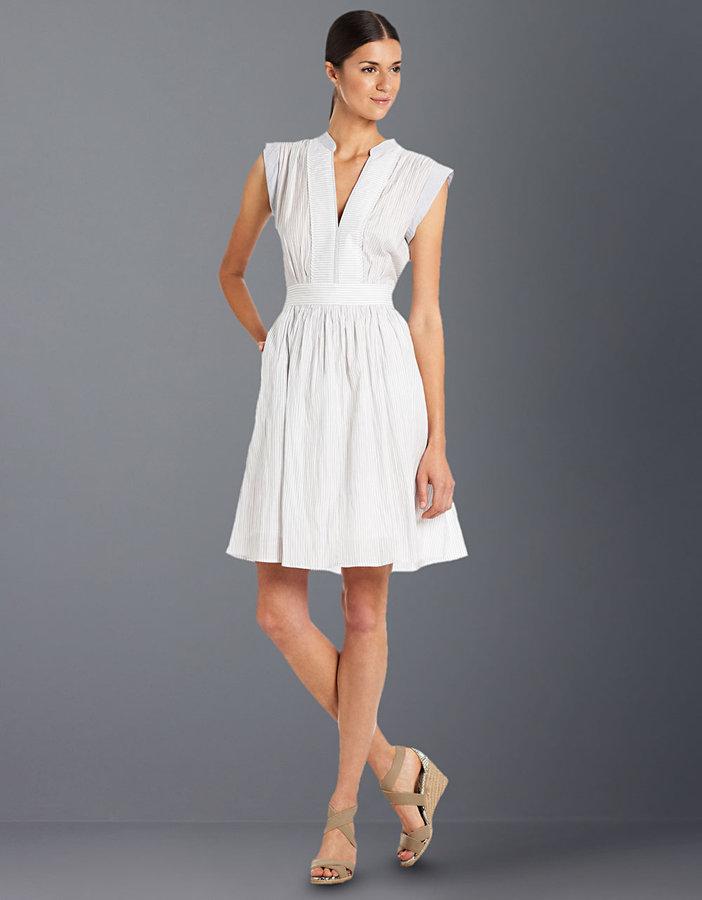 BCBGMAXAZRIA Marcela Cap-Sleeved Pleated Dress