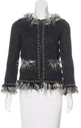 Chanel Fantasy Fur Cashmere Cardigan