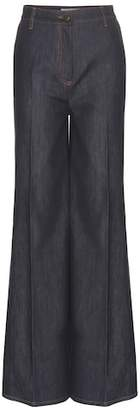 Valentino High-waisted wide-leg jeans