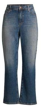Eileen Fisher High-Waist Bootcut Ankle Jeans