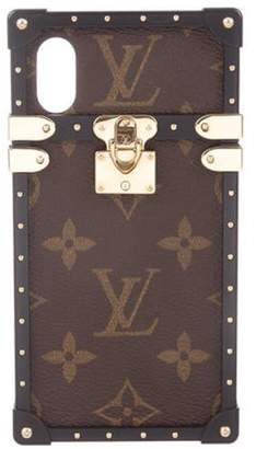Louis Vuitton 2018 Eye-Trunk For iPhone X Brown 2018 Eye-Trunk For iPhone X
