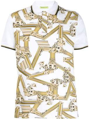 Versace pillar print polo shirt