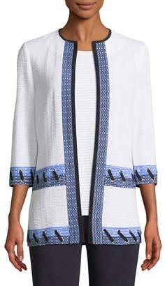Misook Grommet Detail 3/4-Sleeve Jacket, Plus Size