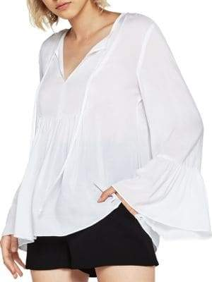 BCBGeneration Ruffled Sleeve Top