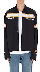 Heron Preston Men's Reflective-Striped Twill Shirt-Black