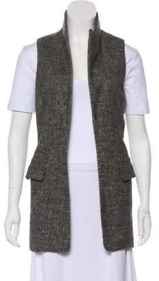 Alexander Wang Wool-Blend Open Front Vest