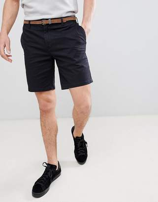 Pull&Bear Chino Shorts In Navy