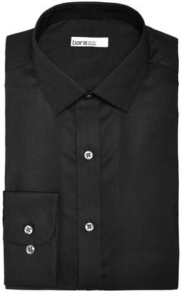 Bar III Men's Slim-Fit Stretch Easy-Care Textural Solid Dress Shirt, Created For Macy's