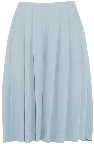 See by Chloe Pleated crepe culottes