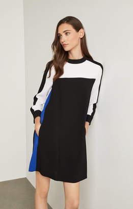 BCBGMAXAZRIA Stephanie Colorblocked Dress