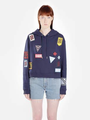 Calvin Klein JEANS WOMEN'S BLUE BADGES HOODIE