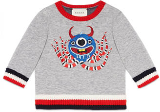 Baby jersey sweatshirt with monster $355 thestylecure.com