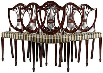 One Kings Lane Vintage Mahogany Dining Chairs - Set of 6 - La Maison Supreme