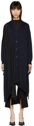 Stella McCartney Navy Contrast Stripe Long Cardigan