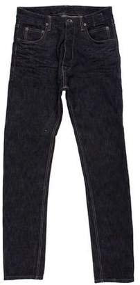 Rick Owens Torrence Coated Skinny Jeans