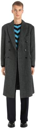 Virgin Wool Houndstooth Coat