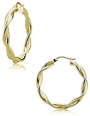 Lord & Taylor 18K Gold Vermeil Double-Twisted Hoop Earrings $95 thestylecure.com