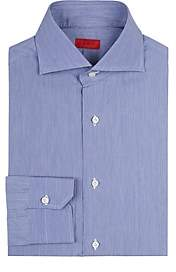 Isaia Men's Slim-Fit Cotton Dress Shirt - Md. Blue