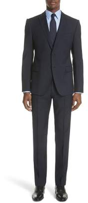 Emporio Armani G Line Trim Fit Check Wool Suit