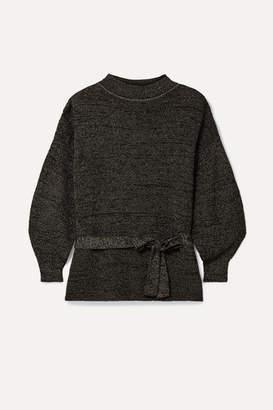 Apiece Apart Arkestra Belted Lurex Sweater - Black