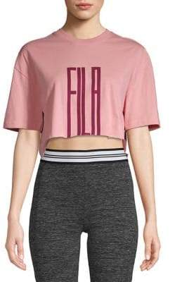 Fila Printed Cotton Cropped Top