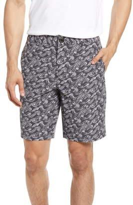 Bonobos Wave Print Chino 9-Inch Shorts