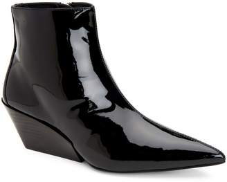 Calvin Klein Jeans Wedge Patent Leather Booties