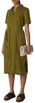 Whistles Bella Linen Shirt Dress